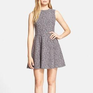 Theory Tillora Tweed Fit & Flare mini dress